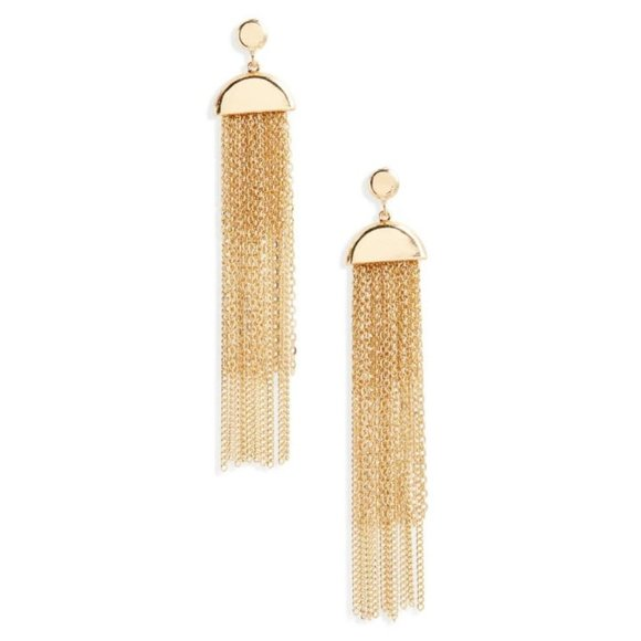 Bp. Gold Plated Drop Earring Chain Jewelry